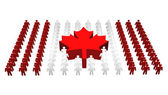 Canadian - Canada flag — Stock Photo