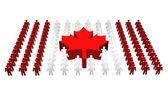 Canadian - Canada flag — Stock Photo