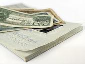 Reisepass und Geld — Stockfoto