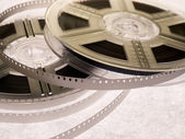 Bobines de film avec le film — Photo