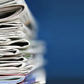 Newspapers concept — Stock Photo