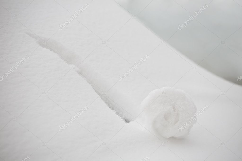 Small snowball growing bigger. Idea brainstorming concept  Stock Photo #1756481