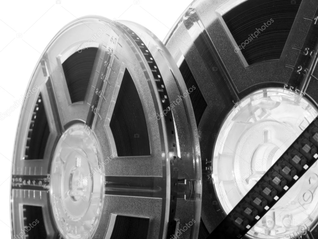 Film reel isolated. Old movie reel - entertainment concept — Stock Photo #1758845