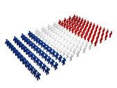 Franska - Frankrike flagga — Stockfoto