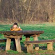 Boy in Park — Stock Photo