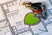Home Plan — Stock Photo