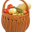 Various Vegetables in a Basket — Stockfoto