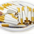 Cigarettes for Meal - Stock Photo