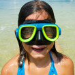 Young Girl Swimming - Stock Photo