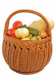 Various Vegetables in a Basket — Stock Photo