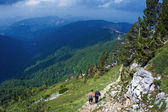 Mountain Hiking — Stock Photo