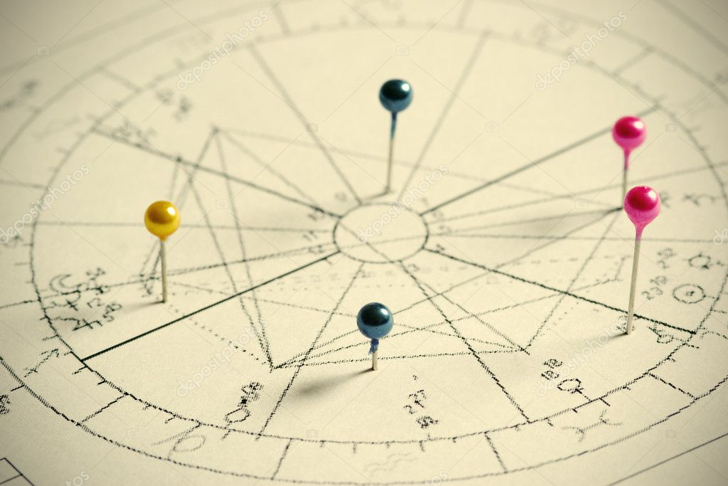 Close up of natal chart. — Foto Stock #1750450