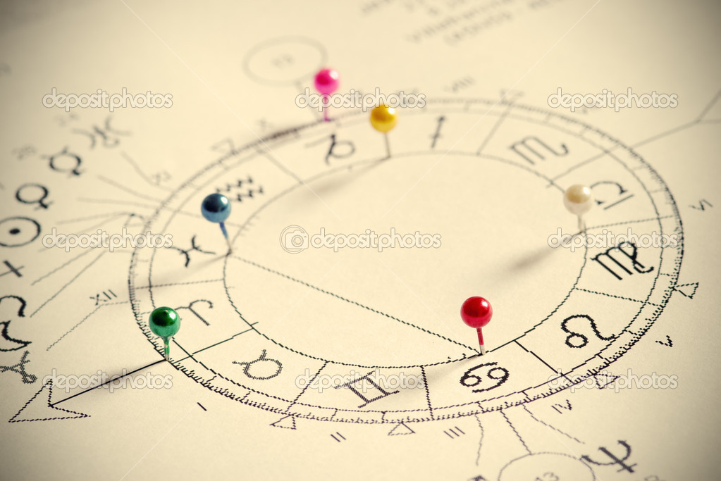 Close up of natal chart.  Stock Photo #1750465