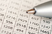 Numbers and Pen — Stock Photo