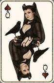 Queen of Spades — Stock Photo