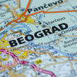 Royalty-Free Stock Photo: Belgrade map close up