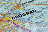 Belgrade map close up — Stock Photo