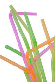Drinking straws isolated on white — Stock Photo