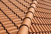Mediterranean house roof style — Stock Photo