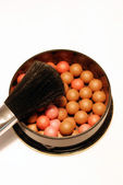 Make-up borstel ballen — Stockfoto