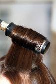 Uzun düz saç ve saç fırçası — Stok fotoğraf
