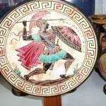 Plate a souvenir from Greece — Stock Photo