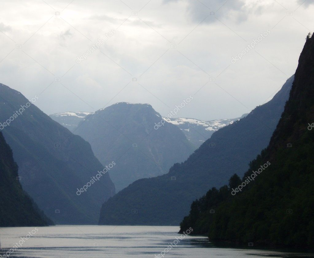 The river among mountains overgrown with a wood  Stock Photo #1645124