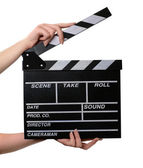 Movie clapper board open — Stok fotoğraf