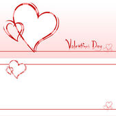 Valentine's invitation card — Foto de Stock