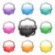 Collection of glossy buttons — Stock Vector #1806450