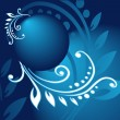 Abstract blue Christmas background with ball — Imagen vectorial