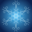 Abstract christmas snowflake - Image vectorielle