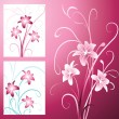 Background with lily - Stock Vector