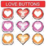 Valentine button set — Stock Vector