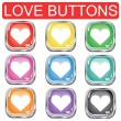 Valentine button set — Stock Vector #1808395