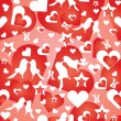 Stock Vector: Valentine's wallpaper