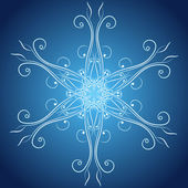 Abstract christmas snowflake — Stock Vector