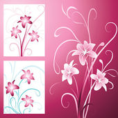 Background with lily — Stock Vector