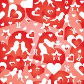 Valentine's wallpaper — Stock Vector