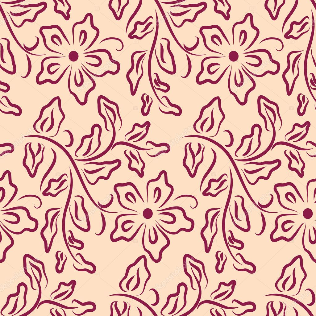 Wallpaper with floral pattern — Stock Vector #1806430