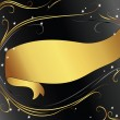 Royalty-Free Stock 矢量图片: Background with gold ribbon
