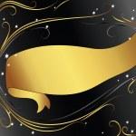 Hintergrund mit gold Band — Stockvektor