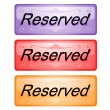 Stock Vector: Buttons about reserved