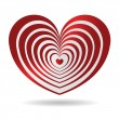 Red glossy heart — Stock Vector