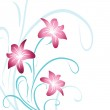 Pink lily — Stock Vector