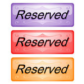 Buttons about reserved — Stock Vector