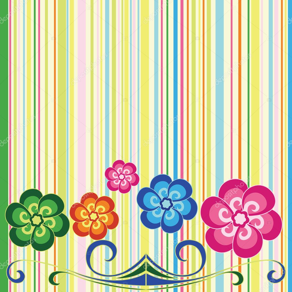 Astract color background with flower — Stock Vector #1853350