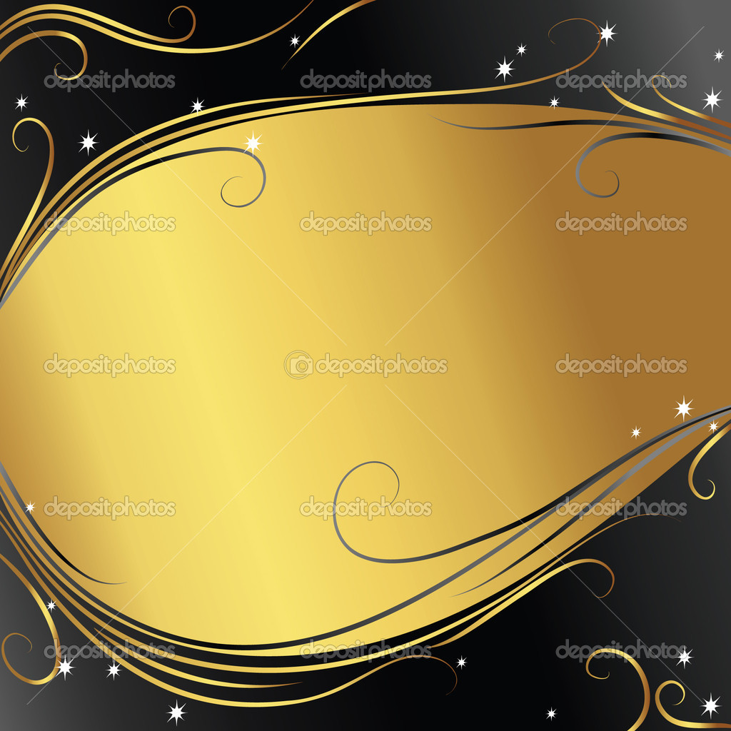Abstract background with gold ribbon — 图库矢量图片 #1853551