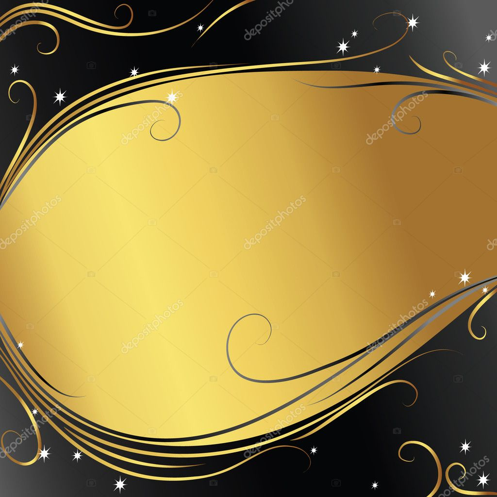Abstract background with gold ribbon — Vektorgrafik #1853551