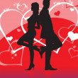 Love Story Silhouette - Stock Photo